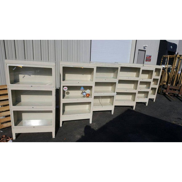 1960s Vintage Nasa Industrial Globe-Wernicke Steel Barrister Bookcases, 1960s For Sale - Image 5 of 9