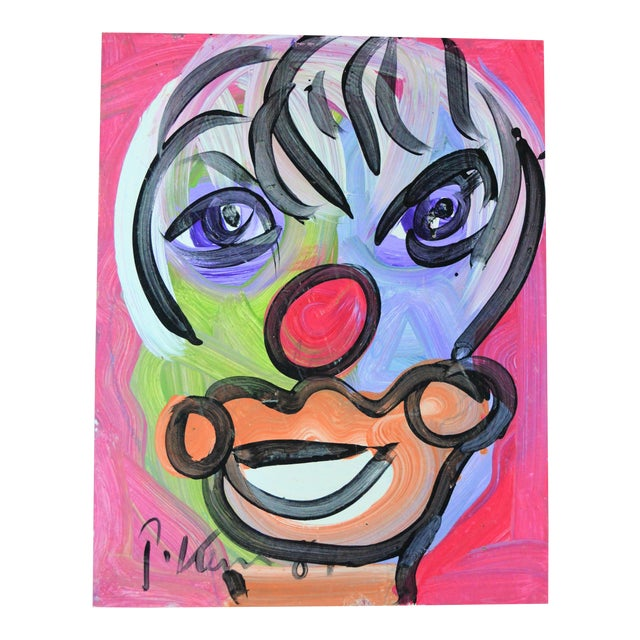 Peter Keil Neo Expressionist Abstract Portrait For Sale