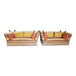 Custom Italian Upholstered Sofas - 2 available For Sale