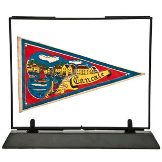 Framed Vintage French Cancale Pennant For Sale