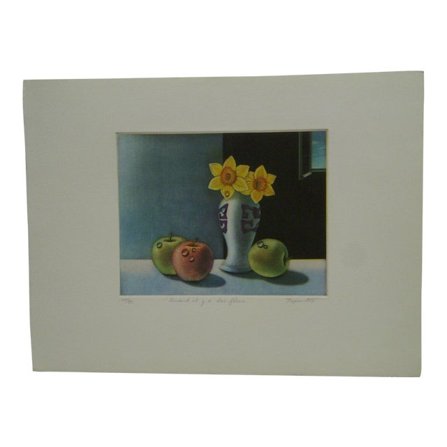 "Screen Print ""Quand Il Y Aura Des Fleurs"" by Tanibata For Sale"
