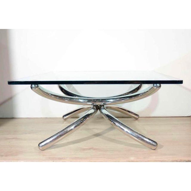 Italian Mid-Century Modern Coffee Table with Sculptural Base Design For Sale - Image 13 of 13