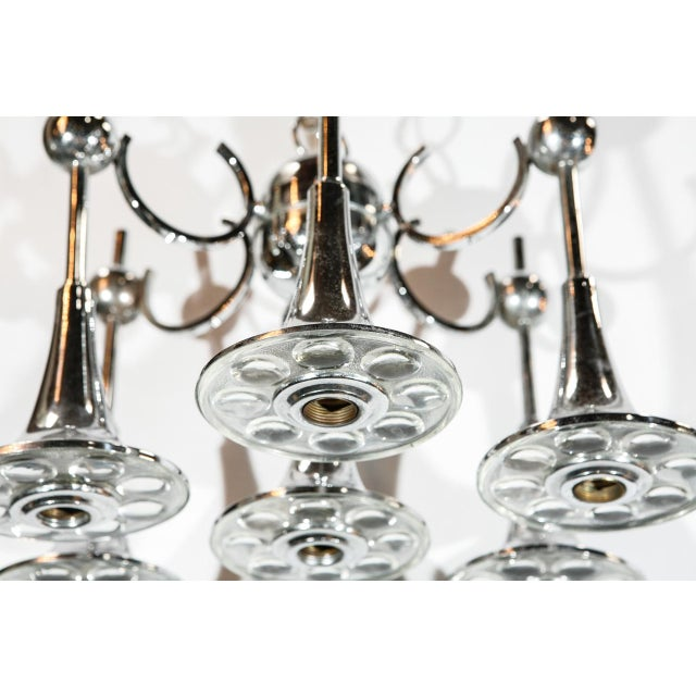 Italian Italian Trumpets Chandelier by Sciolari For Sale - Image 3 of 9
