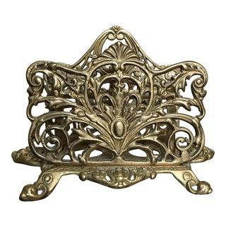 Antique Brass Filigree Mail Sorter