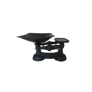 Antique Black Cast Iron Metal Balance Scale
