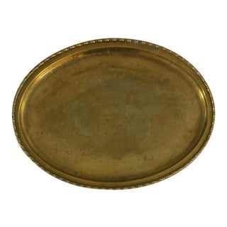Hollywood Regency Brass Tray with Faux Bamboo