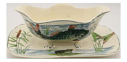 French Longch& Fish Sauce Boat  sc 1 st  Chairish & Vintage \u0026 Used French Dinnerware | Chairish