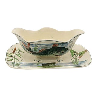 French Longchamp Fish Sauce Boat