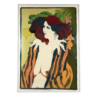 "Frank Gallo Signed & Numbered Bohemian Silkscreen Print ""Carol"" `1972 Ed. 71/300 Modern Art For Sale"
