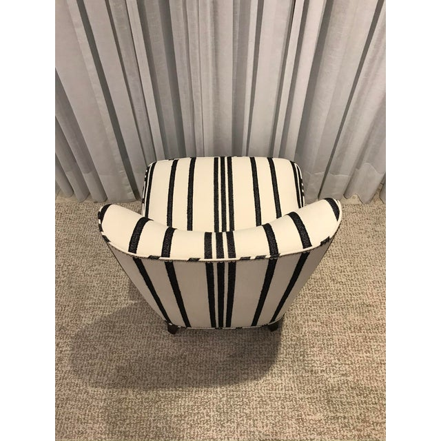 Barbara Barry Armless Chair with Schumacher Stripe Fabric For Sale - Image 9 of 13
