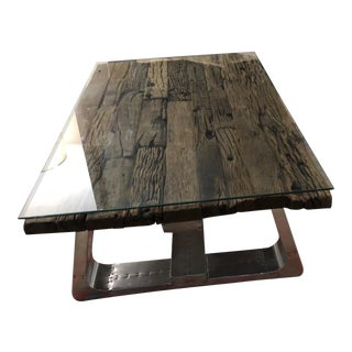 Rustic Timothy Oulton Trestle Coffee Table For Sale