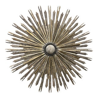Silver & Gold Tuscan Sunburst Wall Hanging For Sale