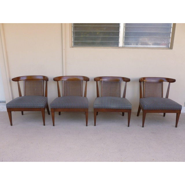 1950's Vintage Klismos Style Slipper Chairs- Set of 4 For Sale In Miami - Image 6 of 7