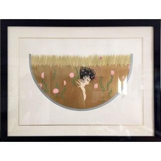 """Erté, """"Harvest"""", Art Deco Screenprint For Sale"""