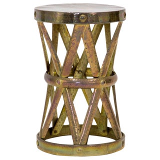 Brass Drum Stool