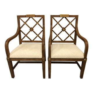 Russian Style Lattice Back Chairs - a Pair For Sale