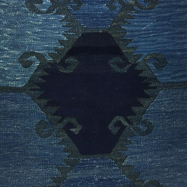 2010s Rug & Relic Indigo-Dyed Yeni Kilim Runner | 2'7 X 9'9 For Sale - Image 5 of 6