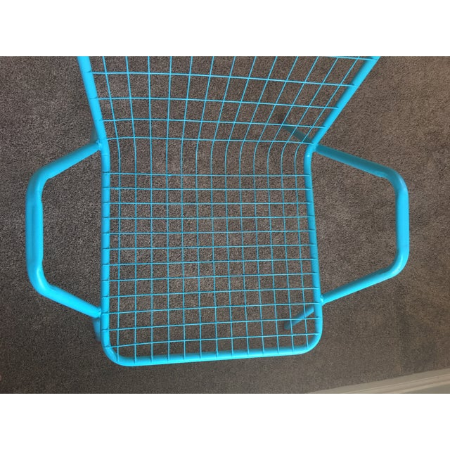 1950s Vintage Emu Industrial Metal Aqua Patio Chairs - Set of 4 For Sale - Image 12 of 13