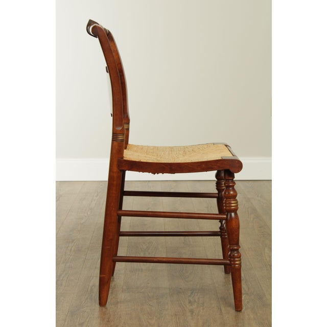 "Hitchcock Norman Rockwell ""Freedom of Worship"" Limited Edition Side Chair For Sale In Philadelphia - Image 6 of 13"