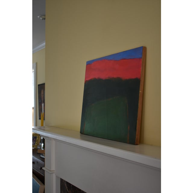 "Wood Stephen Remick ""Field Rising at Sunset"" Contemporary Abstract Painting For Sale - Image 7 of 9"