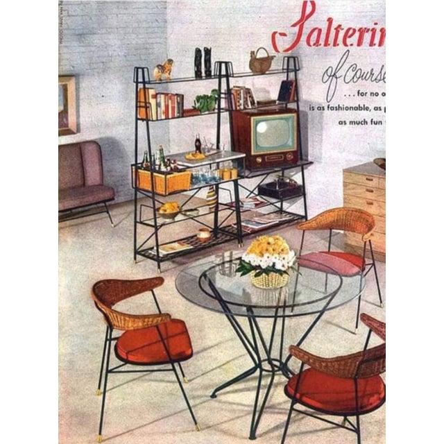 Black 20th Century Salterini Tempestini Wrought Iron Dining Patio Table Last Call For Sale - Image 8 of 9