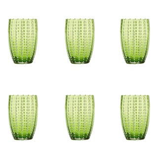 Perle Tumbler in Apple Green - Set of 6 For Sale