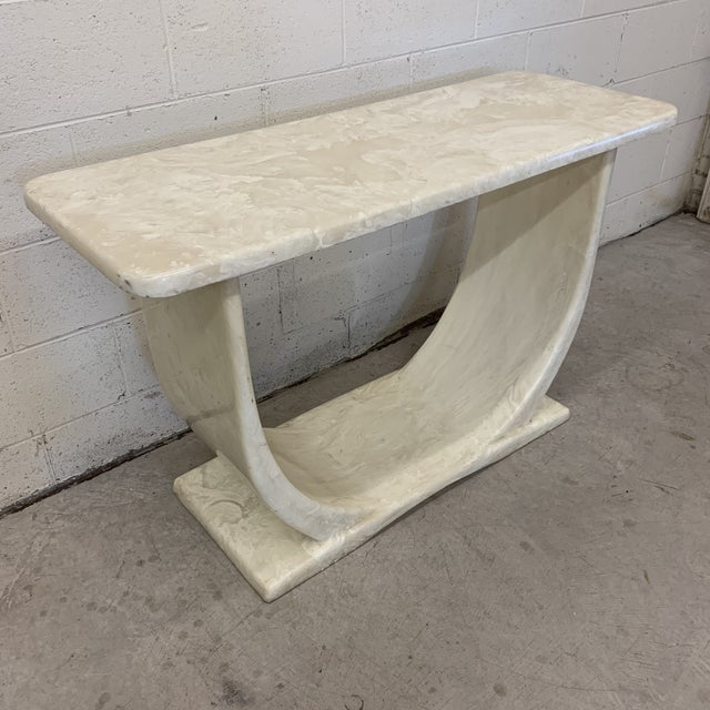 Contemporary Cultured Marble Console Table For Sale - Image 3 of 11