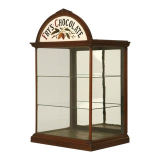 C.1890 Original English j.s. Fry & Sons, Ltd Chocolate Cabinet