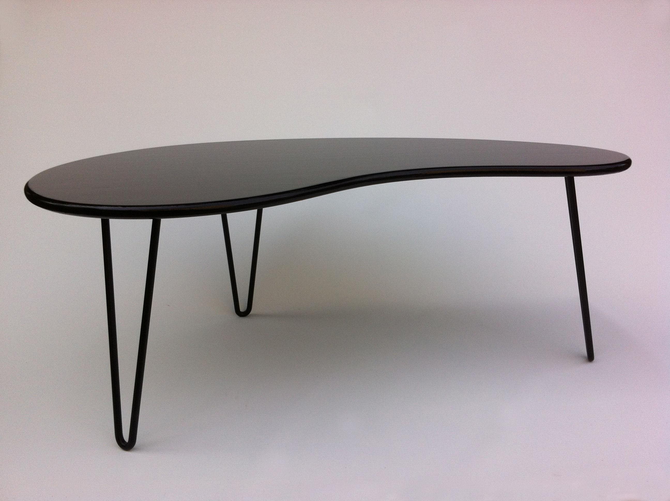 Black MidCentury Kidney Bean Shaped Coffee Table Chairish