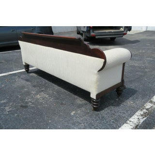Early 1800s Empire Federal Flame Mahogany Long Bench Couch Sofa Preview