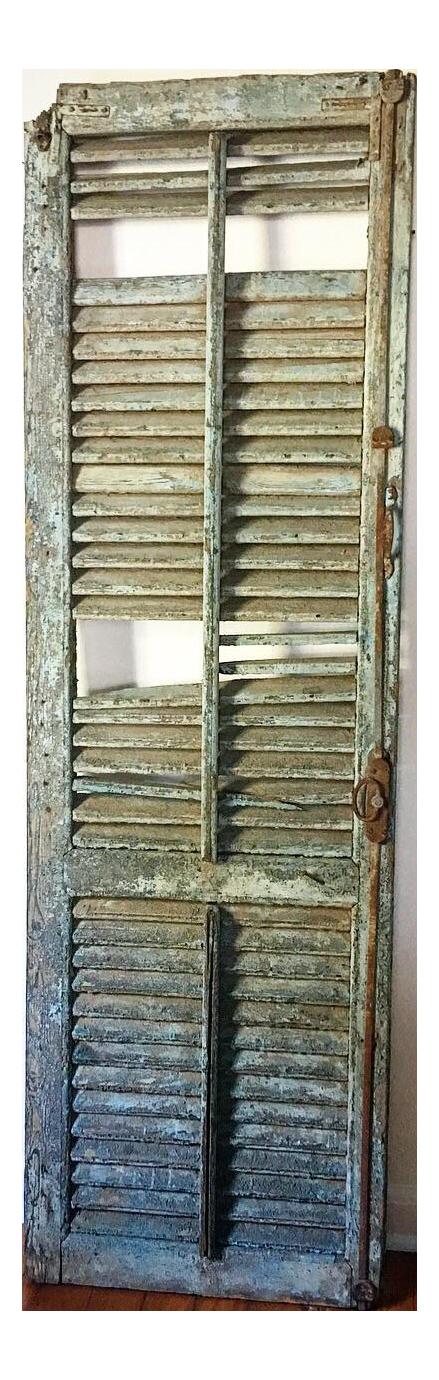 Antique Monumental Historic Savannah Chippy Blue Shutter
