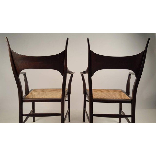 Wood Set of Eight Edward Wormley 5580 Dining Chairs for Dunbar, 1950s For Sale - Image 7 of 13