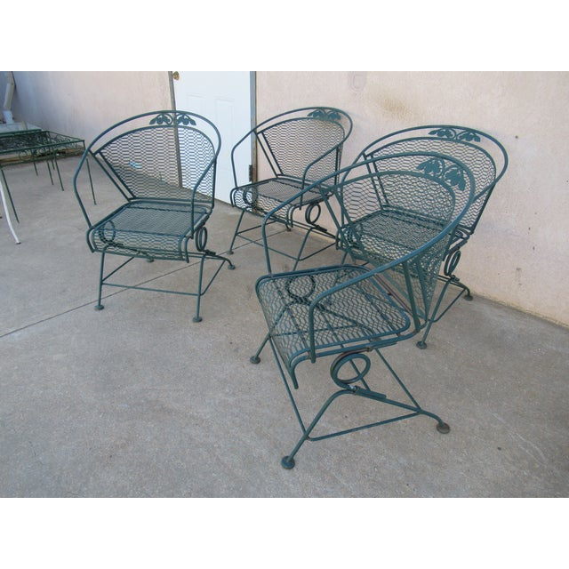 Mid-Century Modern Vintage Spring Patio Dining Chairs - Set of 4 For Sale - Image 3 of 13