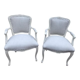 1960s Vintage French Side Chairs- A Pair For Sale