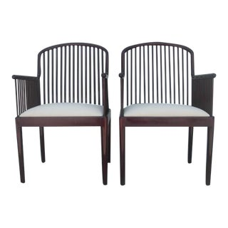 Davis Allen for Stendig Andover Spindle Arm Chairs - a Pair