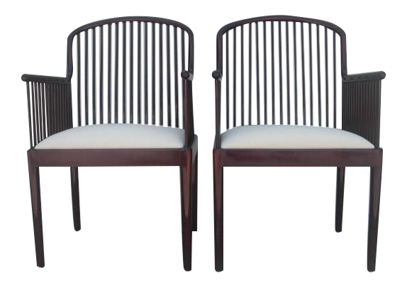 Charmant Davis Allen For Stendig Andover Spindle Arm Chairs   A Pair
