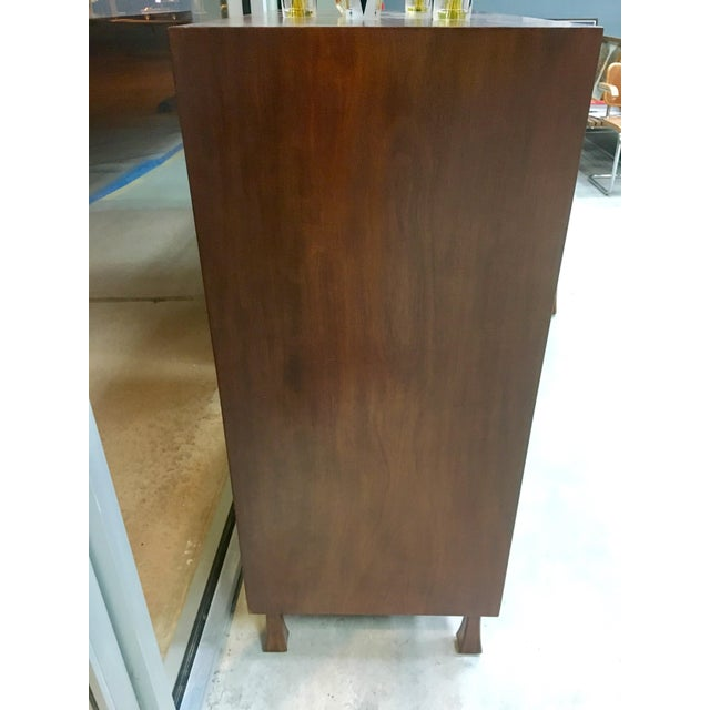 Brown John Widdicomb Highboy Dresser For Sale - Image 8 of 9