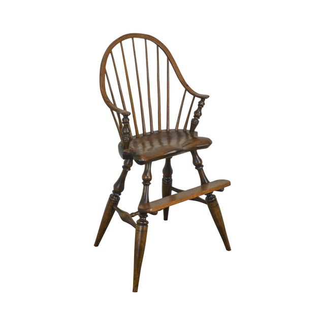 Windsor Style Childs Youth Arm Chair by K. Malone (18th Century Reproduction) For Sale - Image 13 of 13