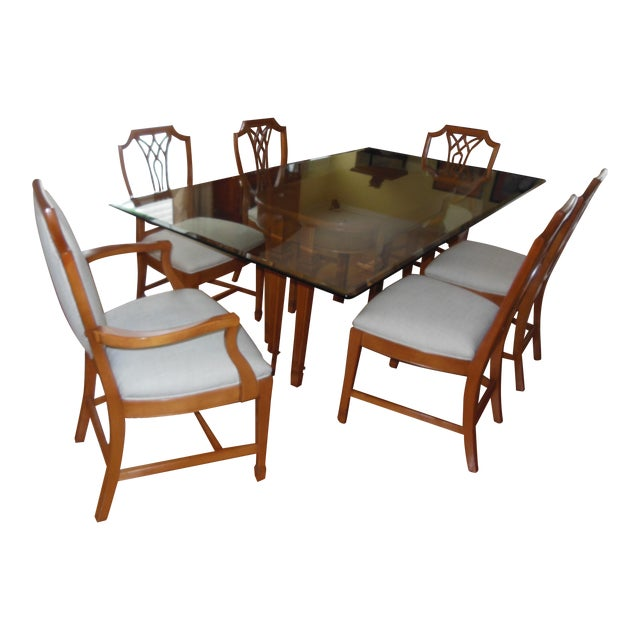 1930's Myrtlewood Dining Table and Chairs (1 of 3 Listings) For Sale