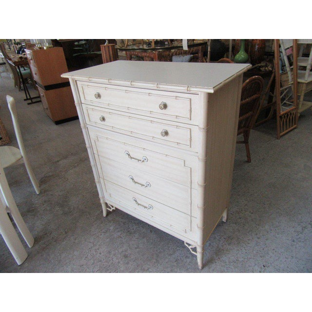Thomasville Palm Beach Faux Bamboo Dresser - Image 3 of 8