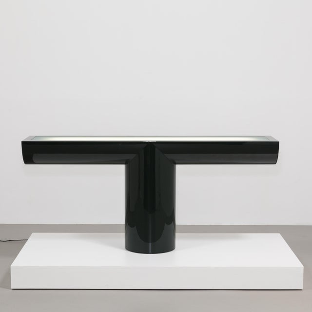 A Lacquered Cantilevered Console Lightbox 1970s - Image 6 of 10