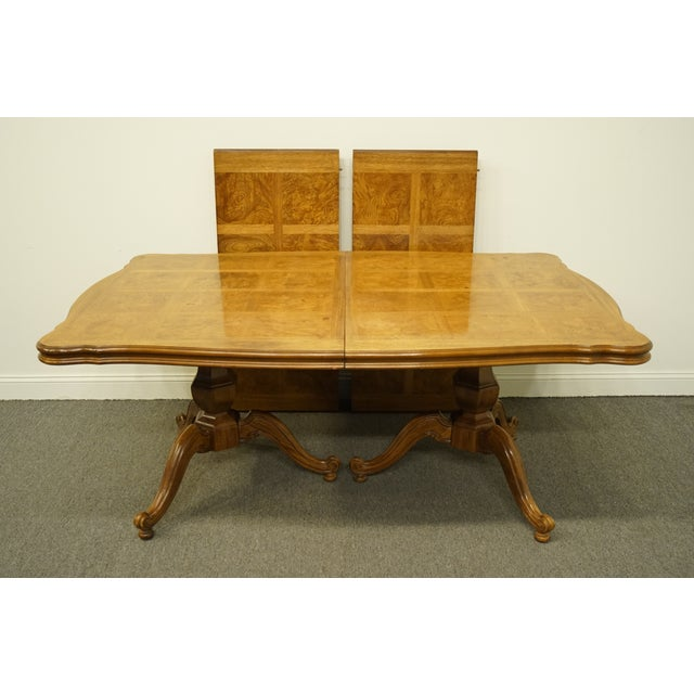 Thomasville Furniture Camille Collection Country French Double Pedestal 110 Dining Table Chairish