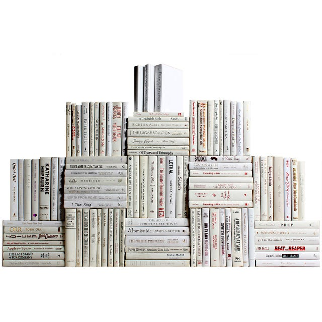 Modern Modern Snowfall Book Wall : Ste of One Hundred Decorative Books For Sale - Image 3 of 3