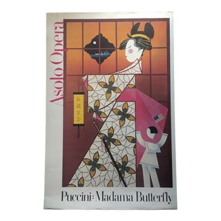 """1979 Vintage Puccini's """"Madame Butterfly"""" Performance Advertising Poster For Sale"""