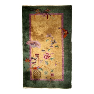1920s, Handmade Antique Art Deco Chinese Rug For Sale