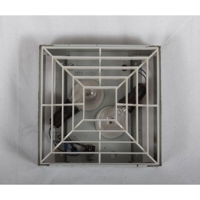 Square factory ceiling lamp For Sale - Image 4 of 6