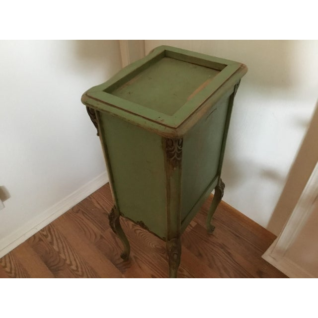 20th Century Shabby Chic Green Nightstand/Chest For Sale - Image 4 of 7