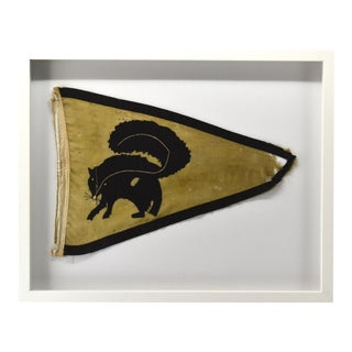 "1920s Antique Fishing Tournament Flag ""Skunk"" For Sale"
