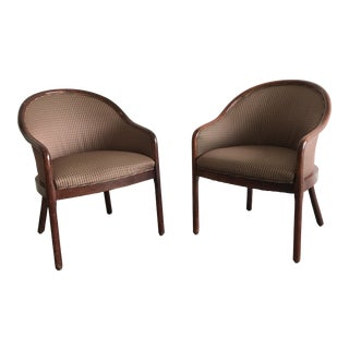 Mid Century Modern Ward Bennett Chairs for Brickel Associates- a Pair For Sale