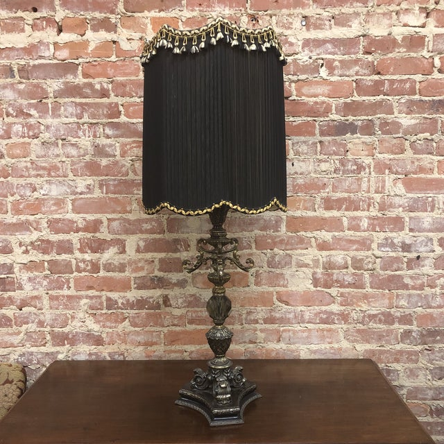 Mid 20th Century Mid-Century Gothic Smoky Crystal Lamp For Sale - Image 5 of 5